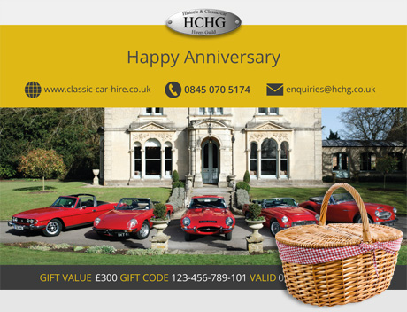 A classic car gift voucher is the ideal present