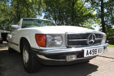 A new car added to the fleet at Caledonian Classics in Scotland, the Mercesdes 280SL