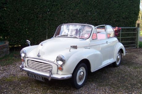 GT Classic Hire Morris Minor Convertible at London Fashion Week